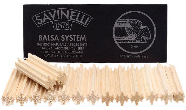 Pipe Tools & Supplies Savinelli 9mm Balsa Filters (15 pack)