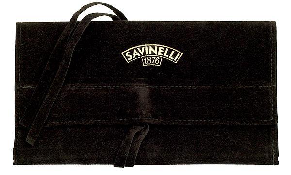 Pipe Accessories Savinelli Velvet Pouch Brown