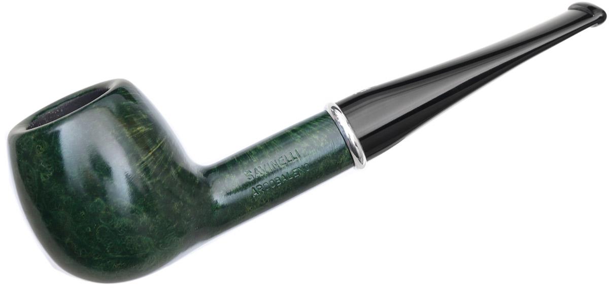 Savinelli Arcobaleno Smooth Green (207) (9mm)