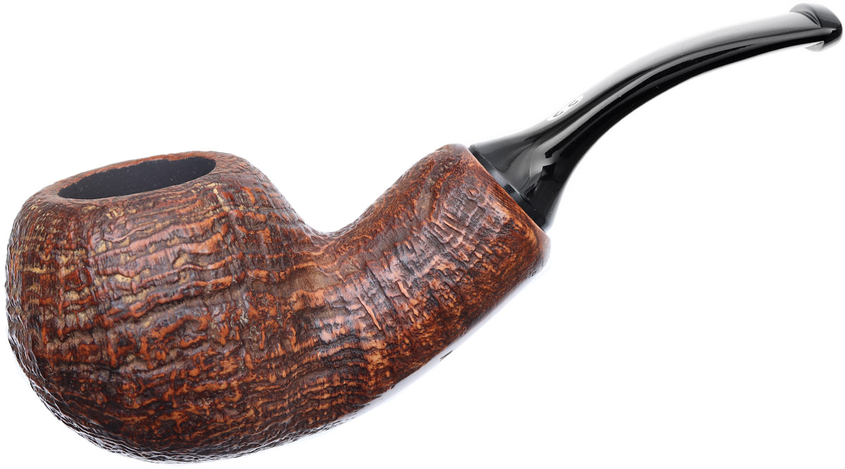 Chacom Brown Sandblasted Bent Apple Reverse Calabash