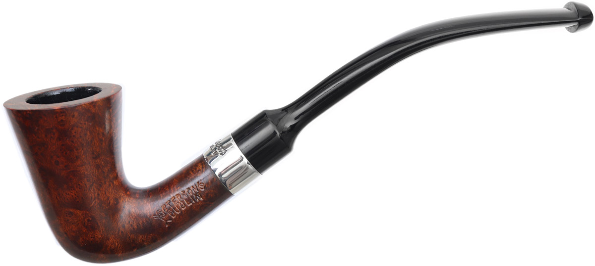 Peterson Speciality Smooth Nickel Mounted Calabash Fishtail