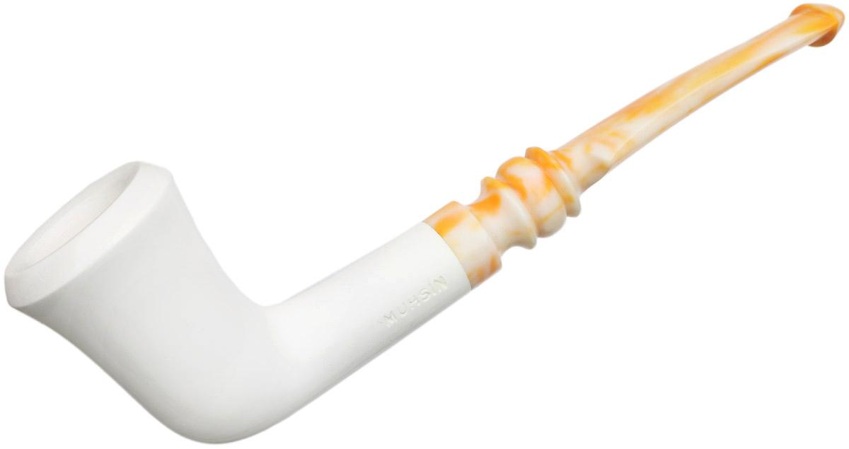 AKB Meerschaum Smooth Bent Dublin (Muhsin) (with Case)
