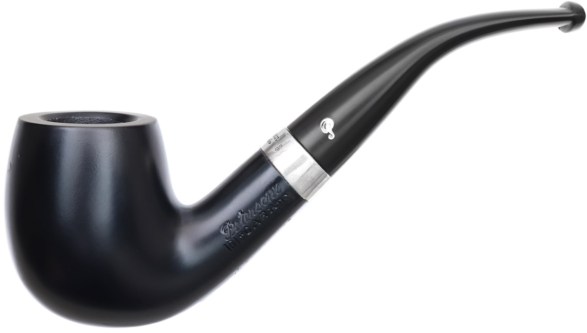 Irish Seconds Smooth Bent Billiard with Silver Band Fishtail (3) (9mm)