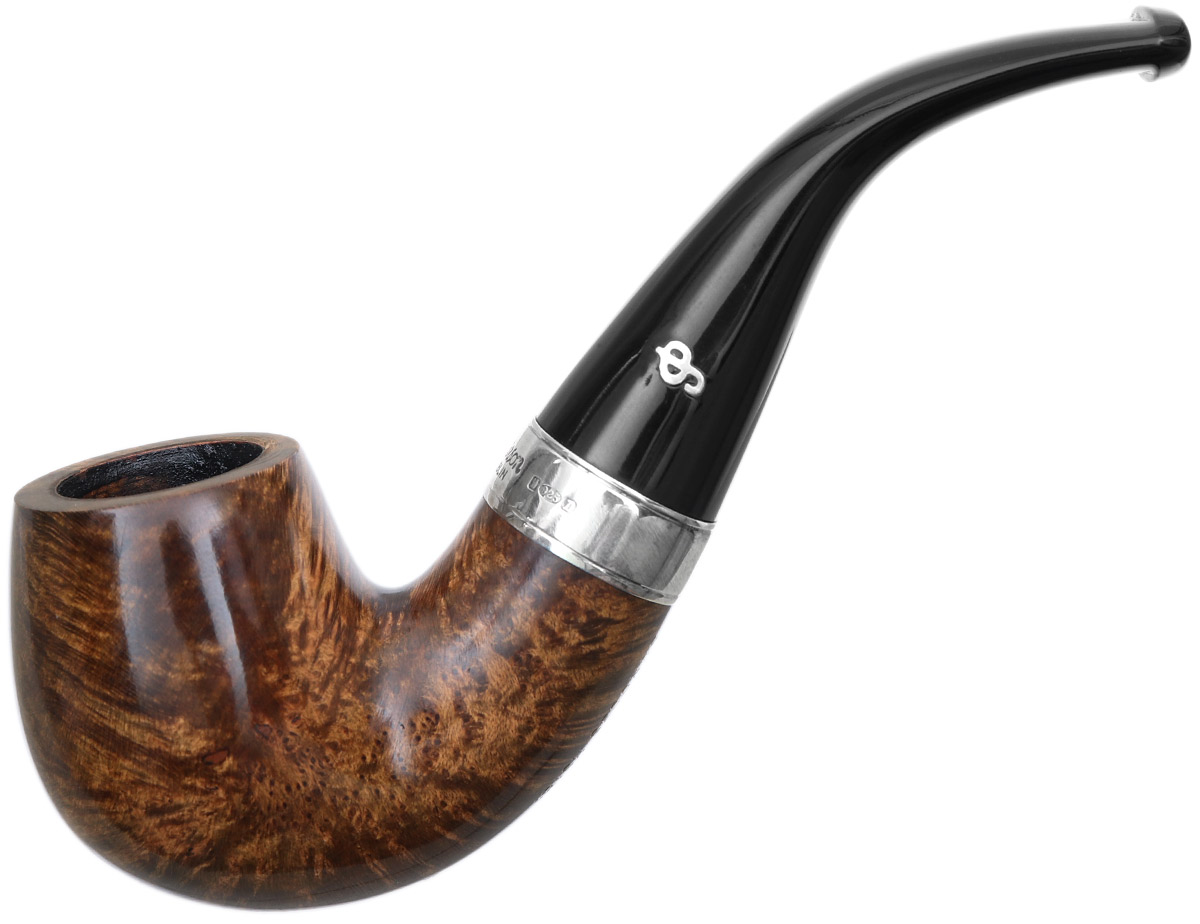 Irish Seconds Smooth Stubby Bent Billiard with Silver Band Fishtail (2)