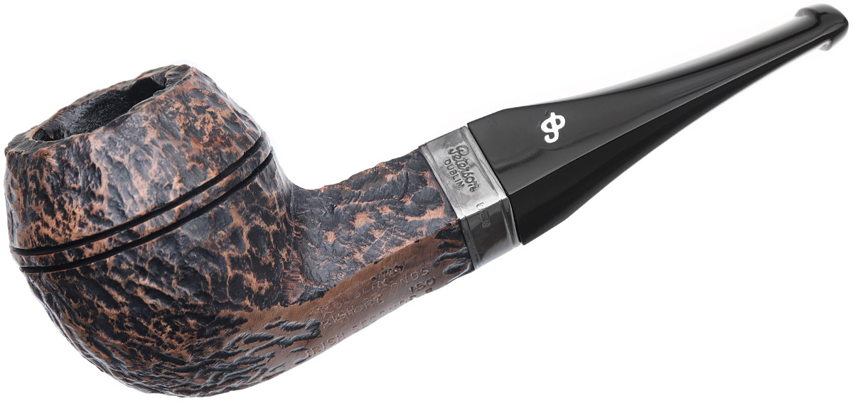 Irish Seconds Rusticated Bulldog with Silver Band Fishtail (2)