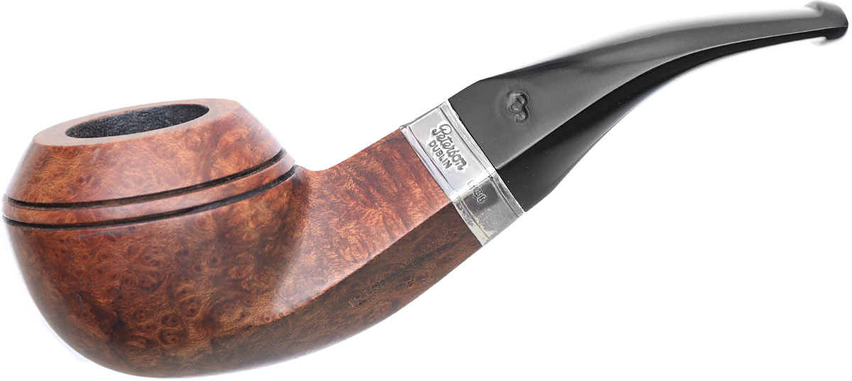 Irish Seconds Smooth Bent Bulldog with Silver Band Fishtail (2)