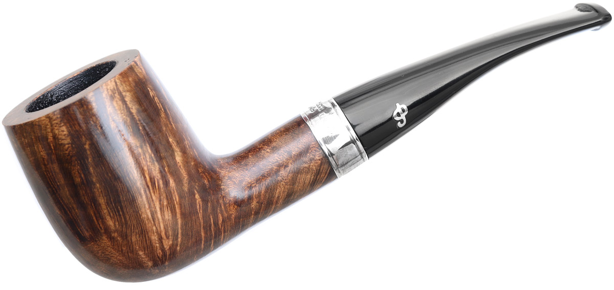 Irish Seconds Smooth Bent Billiard with Silver Band Fishtail (2)