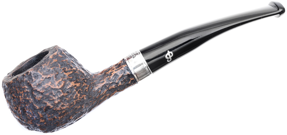 Irish Seconds Rusticated Bent Apple with Silver Band Fishtail (2)