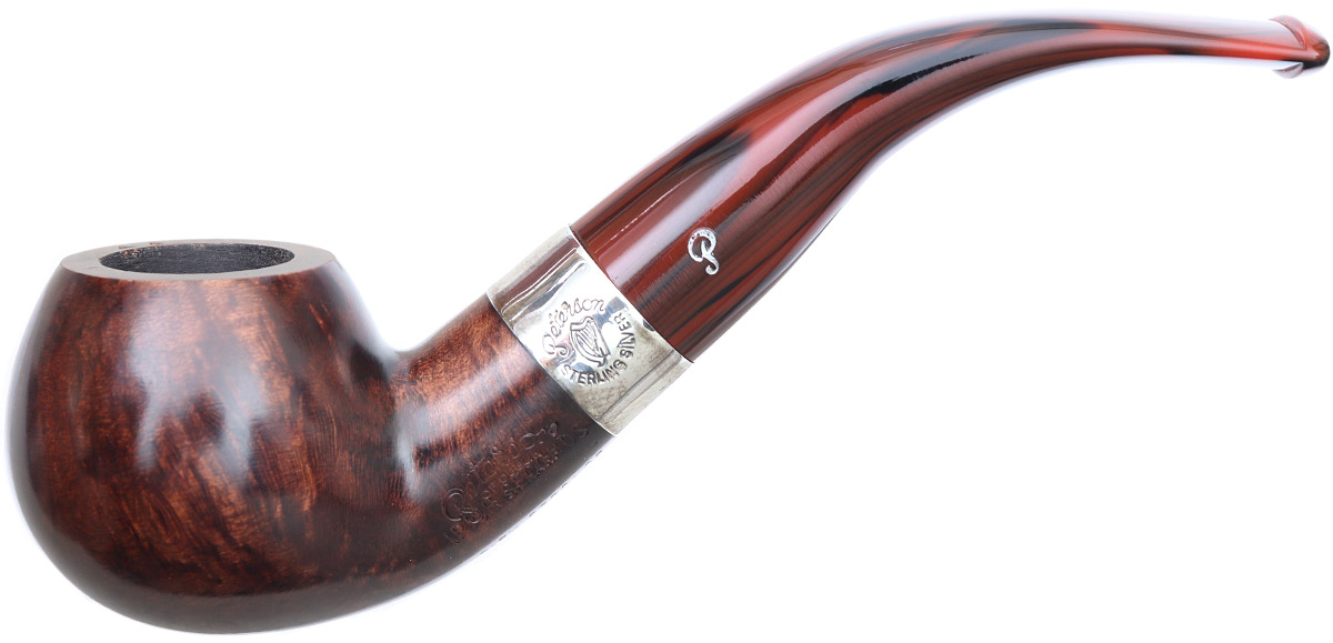Irish Seconds Smooth Bent Apple with Silver Band Fishtail (2)
