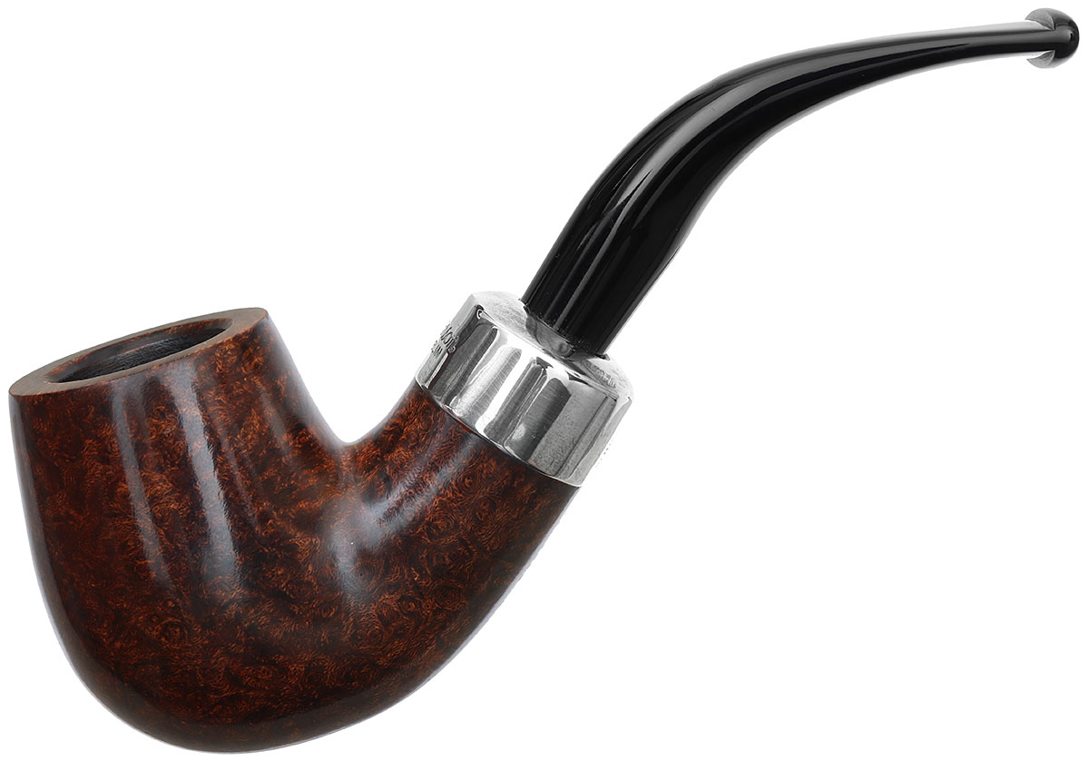 Irish Seconds Smooth Bent Billiard with Silver Army Mount Fishtail (2)