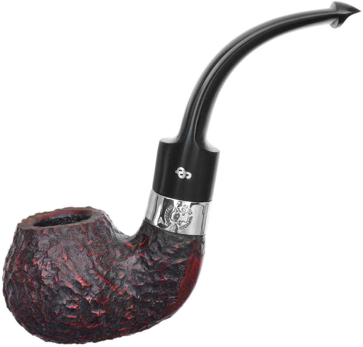 Irish Seconds Rusticated Bent Apple with Silver Band P-Lip (9mm) (2)