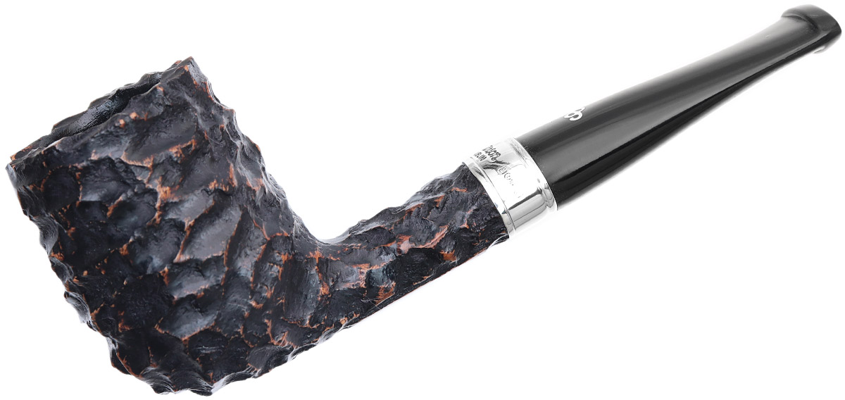 Irish Seconds Rusticated Canadian with Silver Band Fishtail (2)