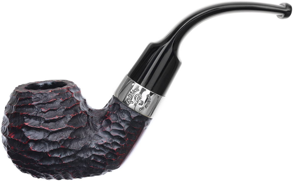Irish Seconds Rusticated Bent Apple with Nickel Band Fishtail (3)