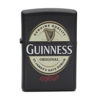 Lighters Zippo Black Matte Guinness Logo