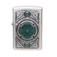 Lighters Zippo Celtic Cross Green
