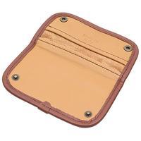 Pipe Accessories Claudio Albieri Italian Leather Tobacco Pouch Deluxe Tan/Chestnut