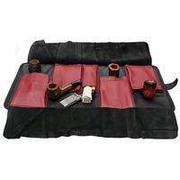 Pipe Accessories Claudio Albieri Italian Leather Elegance Rollup Black/Red
