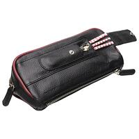 Pipe Accessories Smokingpipes Leather 2 Pipe Combo with Pipe Cleaner Sleeve Black & Red